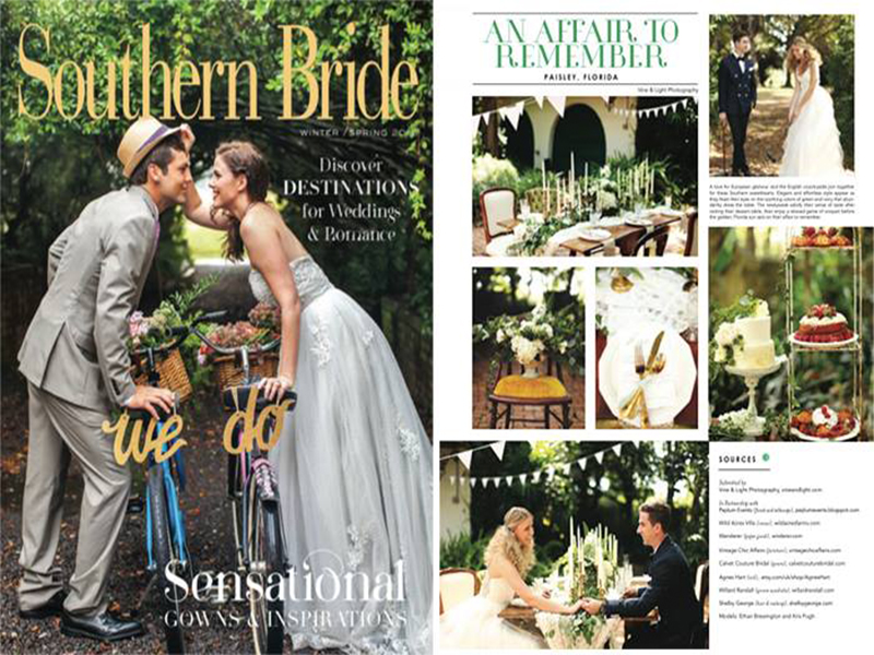 Southern Bride Magazine Cover and Inside