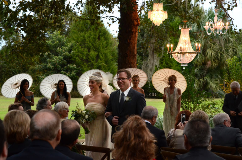 outdoor chandeliers for and elegant wedding
