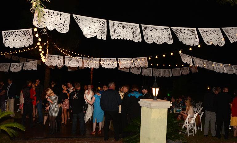 unique mexican wedding lighting