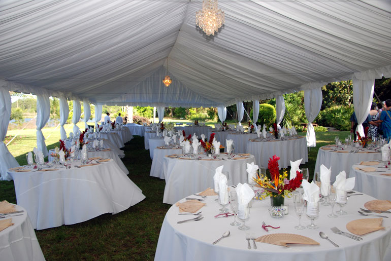 tent draping for a wedding